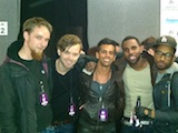 With Jason Derulo and band at the MTV EMAs