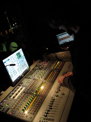 Steve Bunting mixing FOH on an Avid Profile
